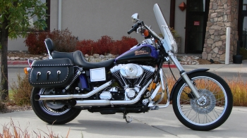 1999 FXDWG PURPLE AND BLACK 36K MILES MANY EXTRAS